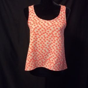 Tan and Coral Party Top